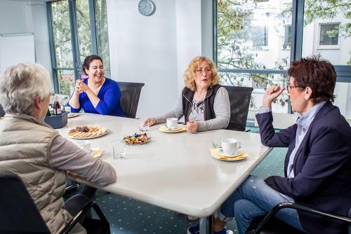 Diskussion im Gruppenraum Bochum